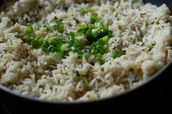 making veg fried rice recipe