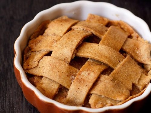 eggless apple pie recipe