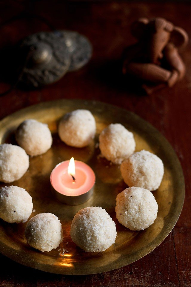 coconut ladoo ganesh chaturthi recipe