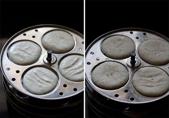 making cooked rice idli recipe