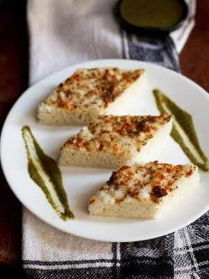 khatta dhokla recipe, white dhokla recipe