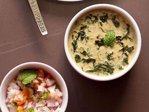 palak raita recipe