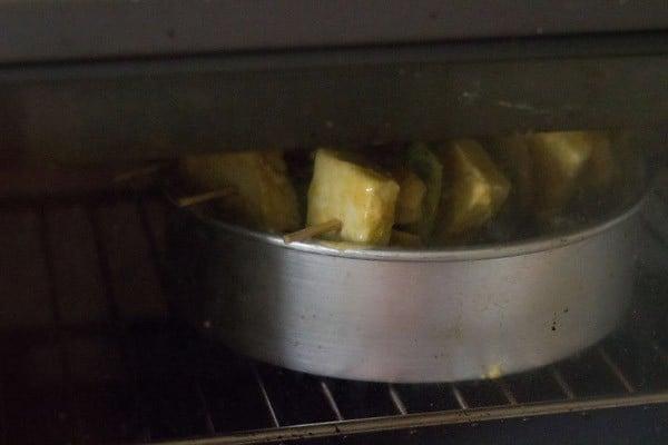 oven grilled paneer tikka