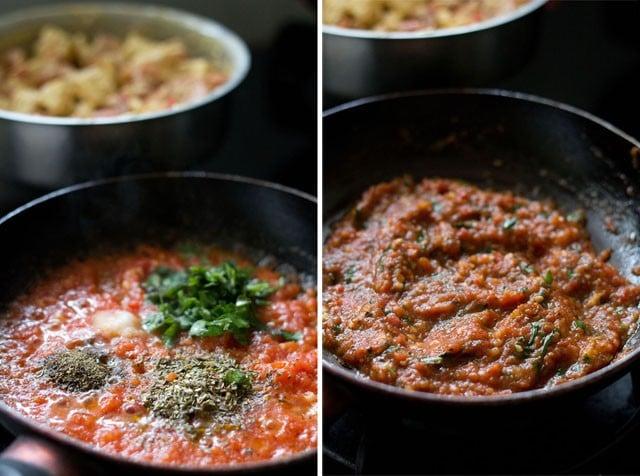 herbs for paneer tikka pizza recipe