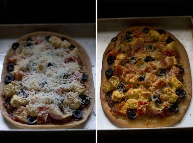 baking - paneer tikka pizza recipe