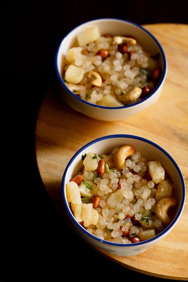 sabudana bhel recipe, quick sabudana snack for navratri fasting or vrat