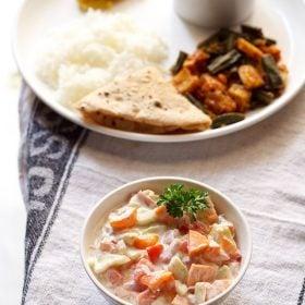 vegetable raita recipe