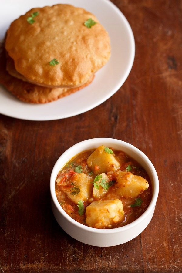 aloo tamatar sabzi recipe | potato tomato curry recipe | navratri recipes