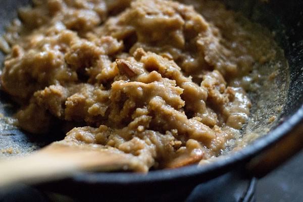 add sugar to make atta halwa recipe