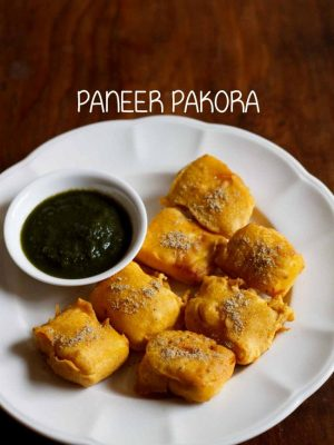 paneer pakora recipe | paneer pakoda recipe | how to make paneer pakora