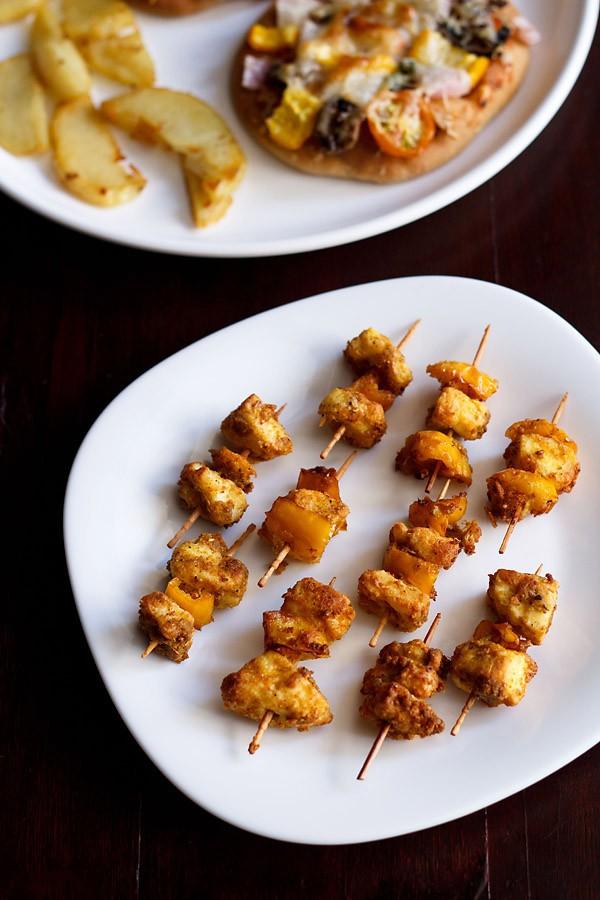 quick paneer tikka recipe | instant paneer tikka | paneer snacks recipes