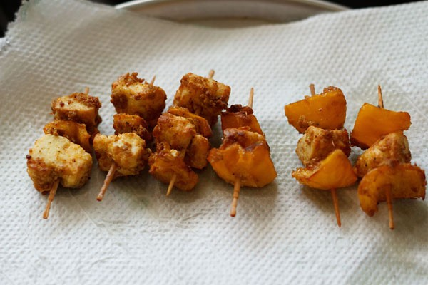 fried paneer for paneer tikka recipe