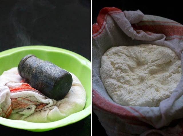 making paneer for bengali sandesh recipe
