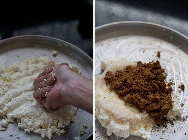 knead paneer for making sandesh recipe