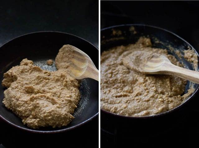 sugar jaggery mixture for making sandesh