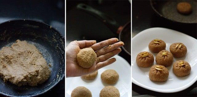 shaping the sandesh mixture