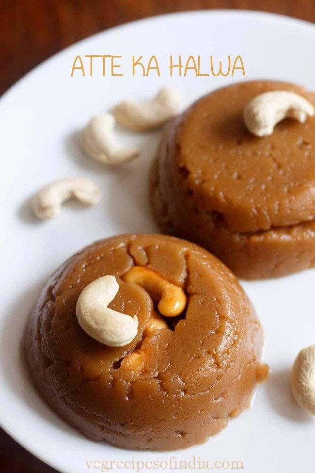 wheat halwa recipe | atta halwa recipe | wheat flour halwa