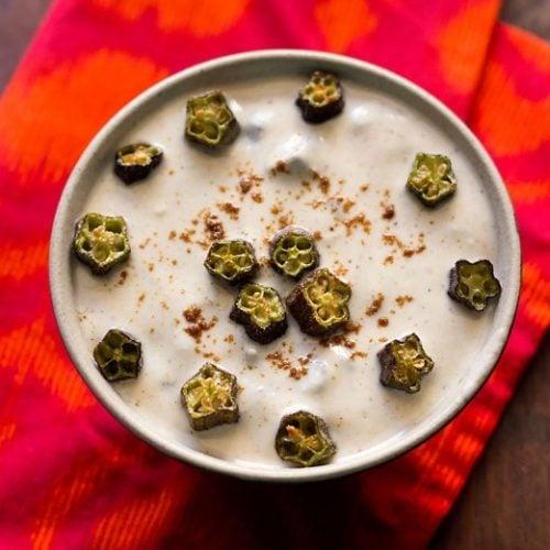 bhindi raita recipe, okra raita recipe