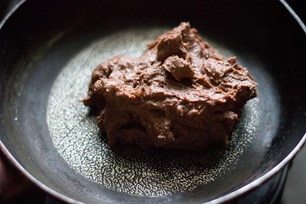 making chocolate sandesh recipe