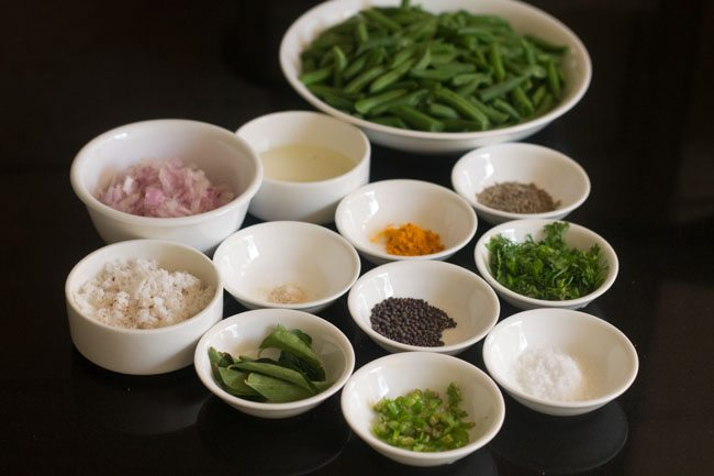 french beans foogath recipe