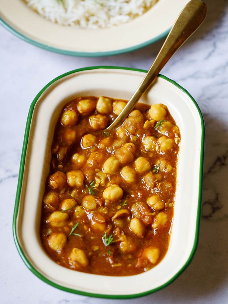 Instant Pot Chana Masala in a bowl