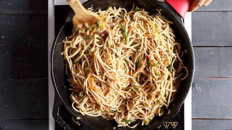 making veg noodles recipe