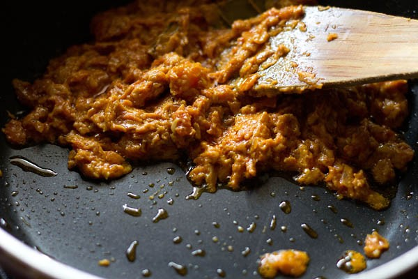 preparing masala for aloo gobi curry recipe