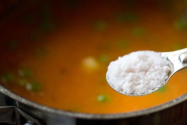 salt for aloo matar recipe