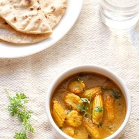 baby corn masala curry recipe, baby corn masala curry