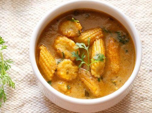 baby corn masala curry recipe
