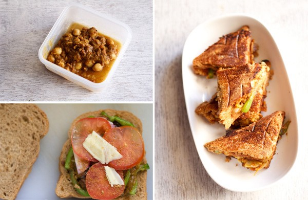 chana masala toast recipe, chana masala toast sandwich
