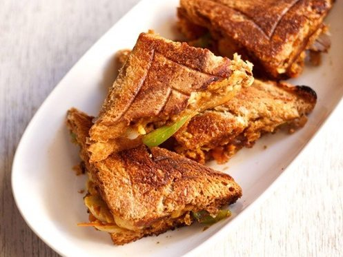 chana masala toast sandwich recipe