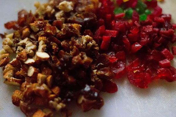 dry fruits for wine fruit cake recipe