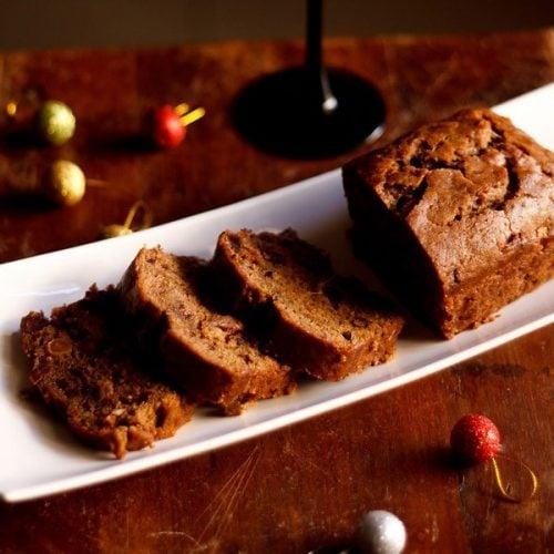 eggless christmas wine fruit cake recipe