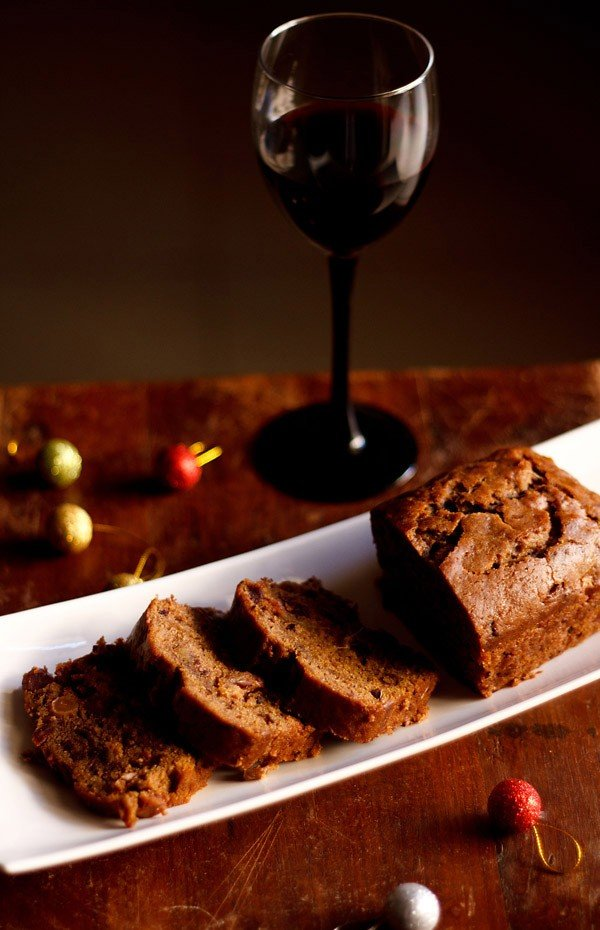 eggless wine fruit cake