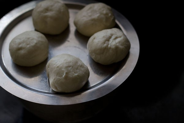 dough balls for making naan recipe with yeast