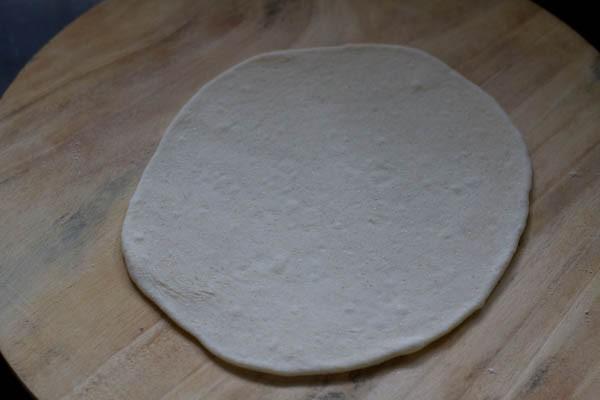 roll the naan dough - naan recipe