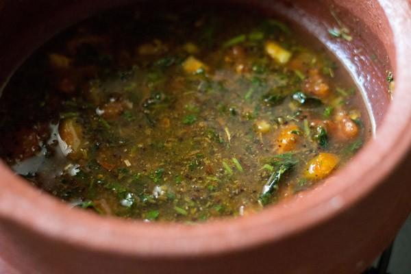 add tamarind pulp - making pepper cumin rasam
