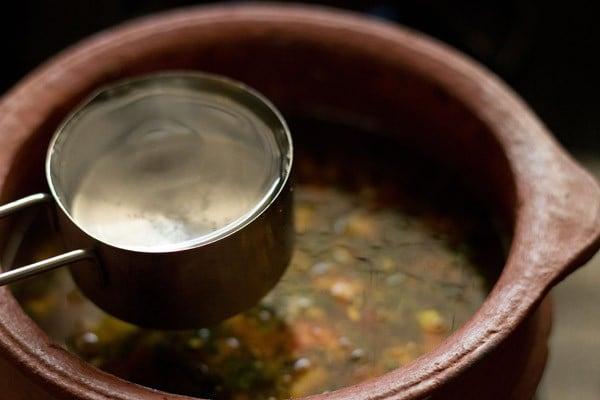 add water to pepper cumin rasam