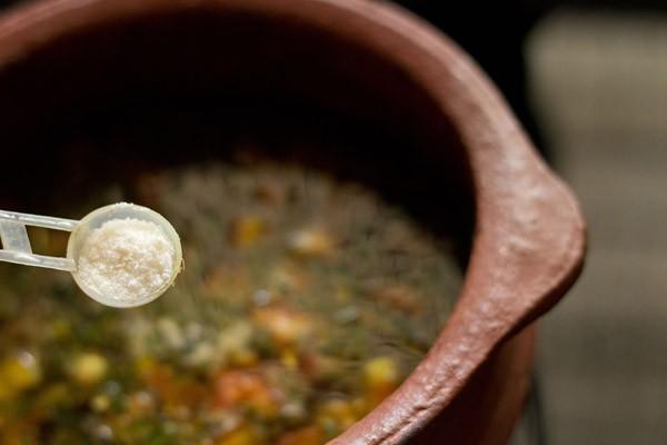 add salt to pepper cumin rasam recipe