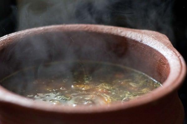 boiling pepper cumin rasam recipe