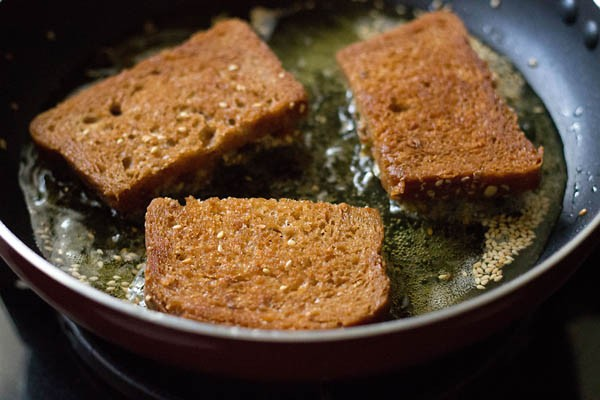 making veg sesame toast recipe