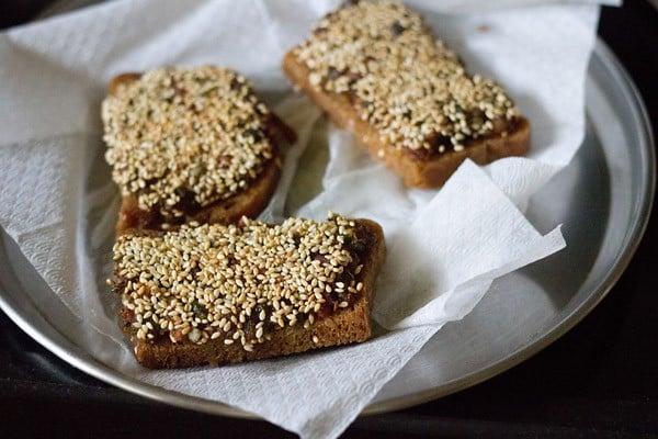 veg sesame toast recipe, sesame toast recipe, veg sesame toast
