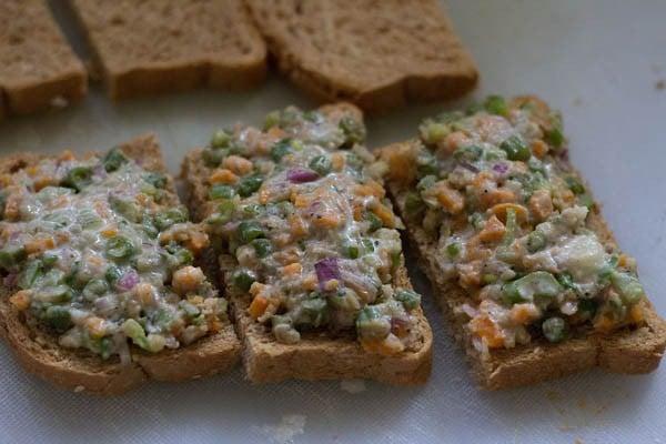 paste for sesame veg toast recipe
