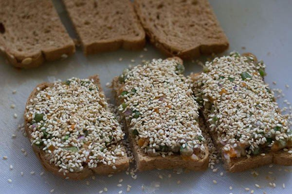 sesame seeds for sesame veg toast recipe