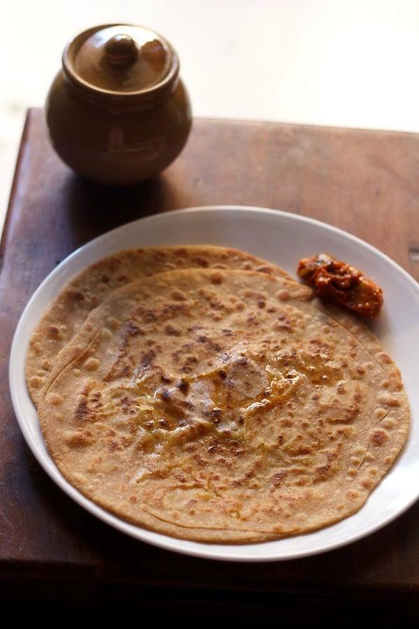 aloo gobi paratha recipe, how to make aloo gobi paratha recipe