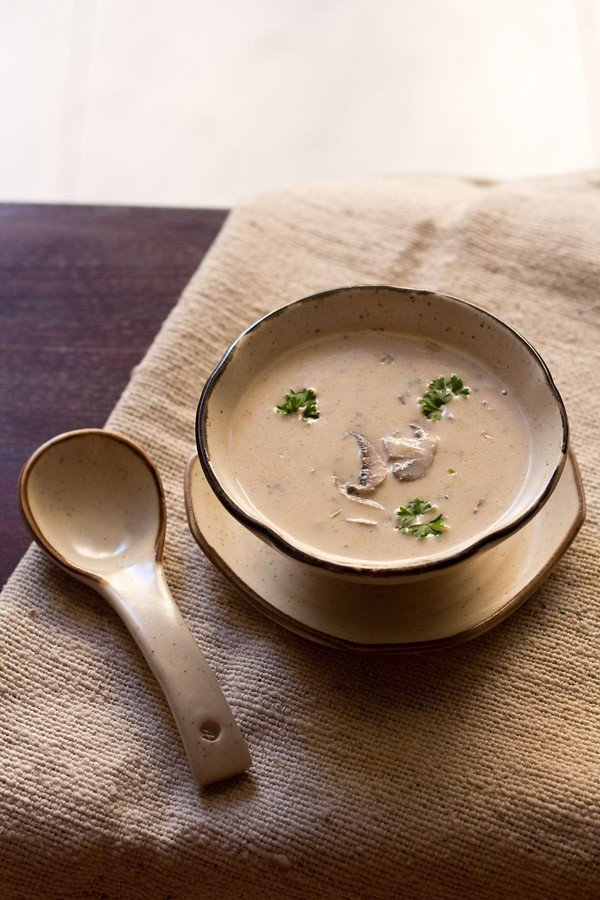 cream of mushroom soup recipe, veg cream of mushroom soup