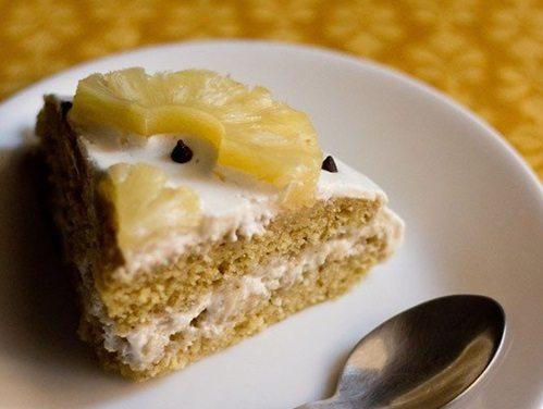 eggless pineapple cream cake recipe