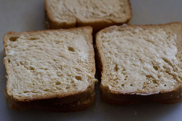 covered with bread slices - grilled cheese sandwich recipe