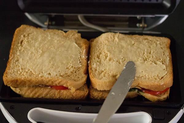 butter to make veg sandwich recipe